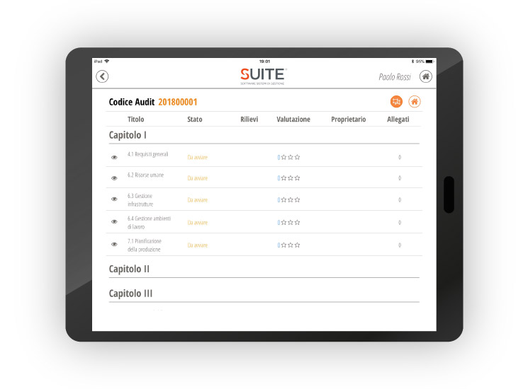 Tablet App - Software Gestione Audit